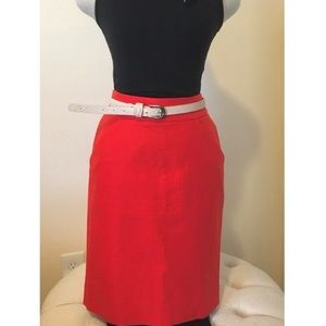 NWOT Red pencil skirt with pockets